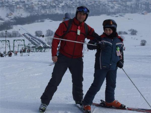 a młody lubi narty bo musi ;)