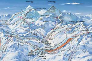 Val d`Isere lodowiec Pissaillas